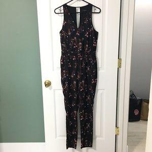 NWOT Adelyn Rae Black Floral Jumpsuit